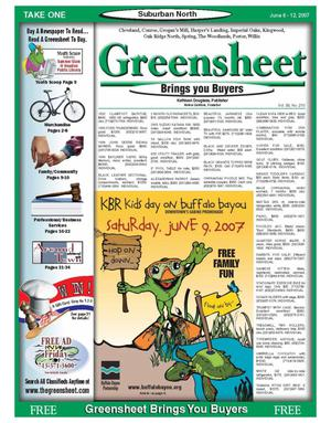 Primary view of object titled 'Greensheet (Houston, Tex.), Vol. 38, No. 210, Ed. 1 Wednesday, June 6, 2007'.