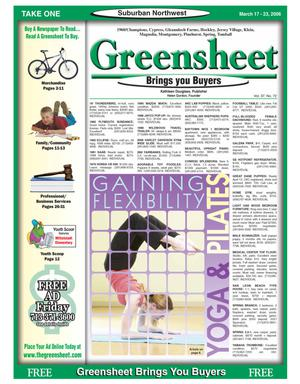 Primary view of object titled 'Greensheet (Houston, Tex.), Vol. 37, No. 72, Ed. 1 Friday, March 17, 2006'.