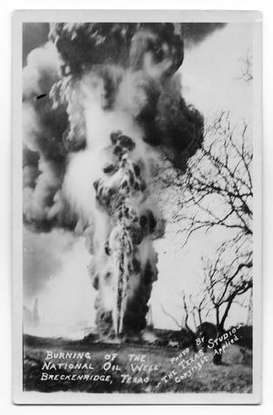 Primary view of object titled 'Burning Oil Well'.