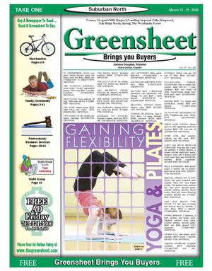 Primary view of object titled 'Greensheet (Houston, Tex.), Vol. 37, No. 66, Ed. 1 Wednesday, March 15, 2006'.