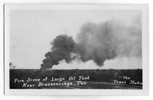Primary view of object titled 'Burning Oil Tank'.