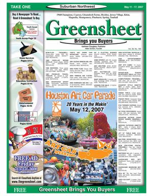 Primary view of object titled 'Greensheet (Houston, Tex.), Vol. 38, No. 168, Ed. 1 Friday, May 11, 2007'.