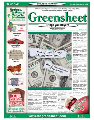 Primary view of object titled 'Greensheet (Houston, Tex.), Vol. 39, No. 564, Ed. 1 Friday, December 26, 2008'.