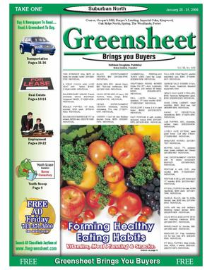 Primary view of object titled 'Greensheet (Houston, Tex.), Vol. 36, No. 606, Ed. 1 Wednesday, January 25, 2006'.