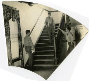 Primary view of object titled 'Three Men in a Stairway'.