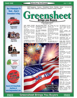 Primary view of object titled 'Greensheet (Houston, Tex.), Vol. 36, No. 252, Ed. 1 Friday, July 1, 2005'.