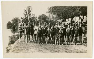 Primary view of object titled 'Group of Boys That Have Been Swimming'.