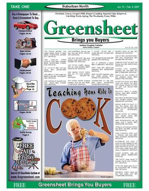 Primary view of object titled 'Greensheet (Houston, Tex.), Vol. 37, No. 618, Ed. 1 Wednesday, January 31, 2007'.