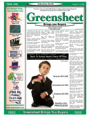 Primary view of object titled 'Greensheet (Houston, Tex.), Vol. 37, No. 306, Ed. 1 Wednesday, August 2, 2006'.