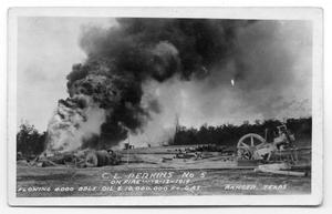 Primary view of object titled 'Oil Well on Fire'.