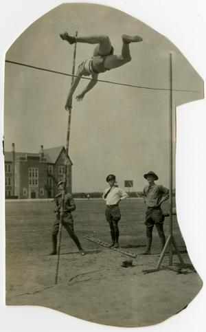 Primary view of object titled '1930's High Jump in the Quad'.