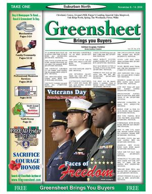 Primary view of object titled 'Greensheet (Houston, Tex.), Vol. 37, No. 474, Ed. 1 Wednesday, November 8, 2006'.