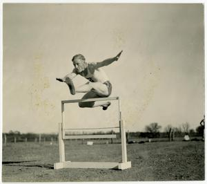 Primary view of object titled '1936 Schreiner Runner Leaping a Bar'.