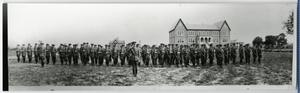 Primary view of object titled 'Cadet Corps Stand at Attention'.