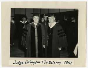 Primary view of object titled 'Judge David Edington and Dr. James J. Delaney'.