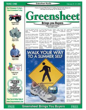 Primary view of object titled 'Greensheet (Houston, Tex.), Vol. 37, No. 18, Ed. 1 Wednesday, February 15, 2006'.