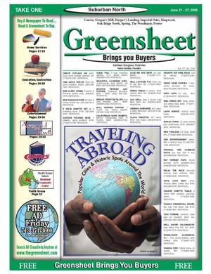 Primary view of object titled 'Greensheet (Houston, Tex.), Vol. 37, No. 234, Ed. 1 Wednesday, June 21, 2006'.