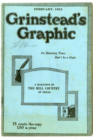 Primary view of object titled 'Grinstead's Graphic, February, 1924'.