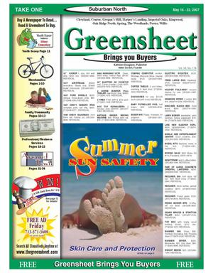 Primary view of object titled 'Greensheet (Houston, Tex.), Vol. 38, No. 174, Ed. 1 Wednesday, May 16, 2007'.