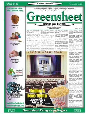 Primary view of object titled 'Greensheet (Houston, Tex.), Vol. 37, No. 30, Ed. 1 Wednesday, February 22, 2006'.