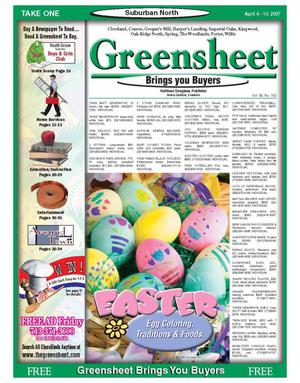 Primary view of object titled 'Greensheet (Houston, Tex.), Vol. 38, No. 102, Ed. 1 Wednesday, April 4, 2007'.