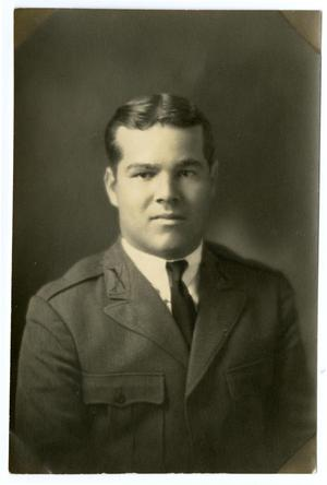 "Primary view of object titled 'Portrait of ""Bush"" Prejean, Seargent at Arm, 1929 -1930'."