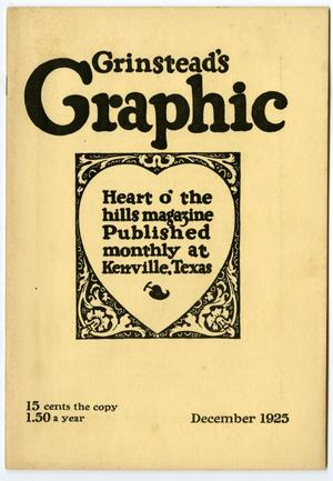Primary view of object titled 'Grinstead's Graphic, December, 1925'.
