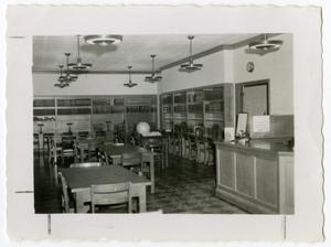 Primary view of object titled 'Inside the Tom Murray Building as a Library, 1940's'.