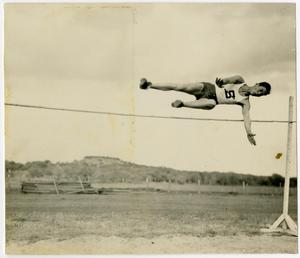 Primary view of object titled 'Schreiner Athlete in a High Jump, 1936'.