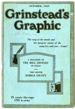 Primary view of object titled 'Grinstead's Graphic, October, 1923'.
