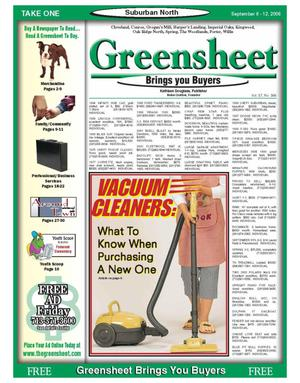 Primary view of object titled 'Greensheet (Houston, Tex.), Vol. 37, No. 366, Ed. 1 Wednesday, September 6, 2006'.