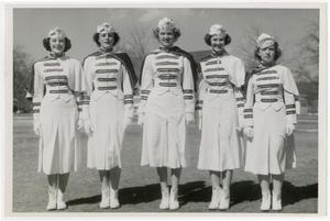 Primary view of object titled 'Five Schreiner Institute Sponsors in Uniform'.