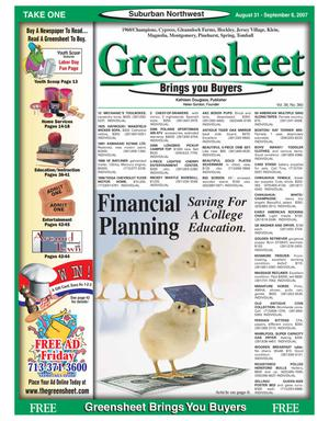 Primary view of object titled 'Greensheet (Houston, Tex.), Vol. 38, No. 360, Ed. 1 Friday, August 31, 2007'.