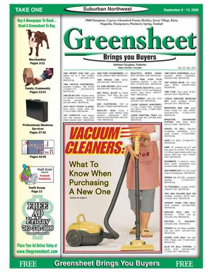 Primary view of object titled 'Greensheet (Houston, Tex.), Vol. 37, No. 372, Ed. 1 Friday, September 8, 2006'.