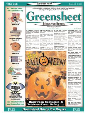 Primary view of object titled 'Greensheet (Houston, Tex.), Vol. 37, No. 450, Ed. 1 Wednesday, October 25, 2006'.