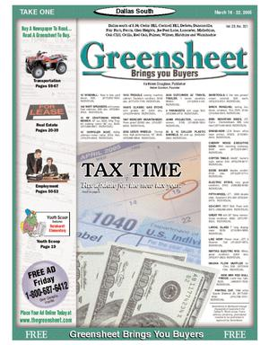 Primary view of object titled 'Greensheet (Dallas, Tex.), Vol. 28, No. 321, Ed. 1 Wednesday, March 16, 2005'.