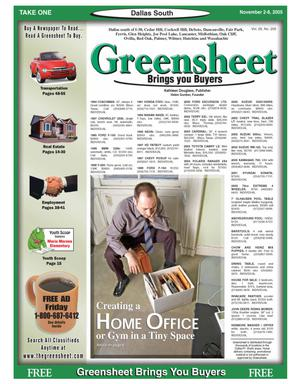 Primary view of object titled 'Greensheet (Dallas, Tex.), Vol. 29, No. 205, Ed. 1 Wednesday, November 2, 2005'.