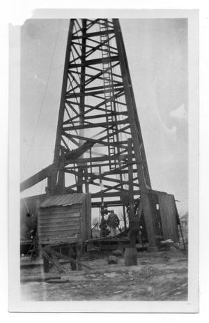 Primary view of object titled 'Man on Drilling Rig'.