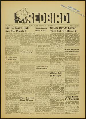 Primary view of object titled 'The Redbird (Beaumont, Tex.), Vol. 8, No. 18, Ed. 1 Friday, February 27, 1959'.