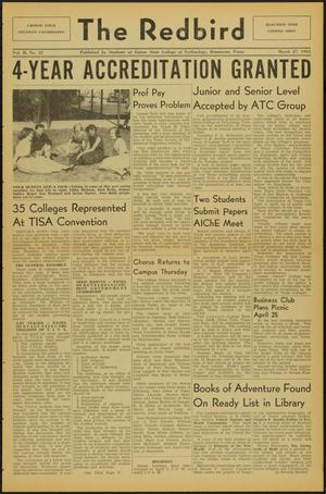 Primary view of object titled 'The Redbird (Beaumont, Tex.), Vol. 2, No. 22, Ed. 1 Friday, March 27, 1953'.