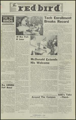 Primary view of object titled 'The Redbird (Beaumont, Tex.), Vol. 13, No. 1, Ed. 1 Saturday, September 22, 1962'.