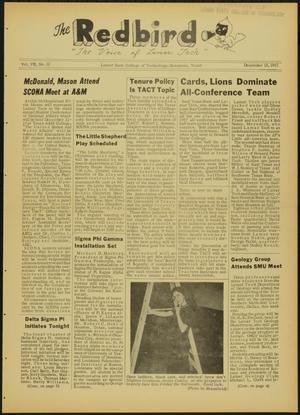 Primary view of object titled 'The Redbird (Beaumont, Tex.), Vol. 7, No. 12, Ed. 1 Friday, December 13, 1957'.