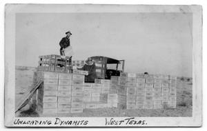 Primary view of object titled 'Shell Oil Team Unloading Dynamite'.