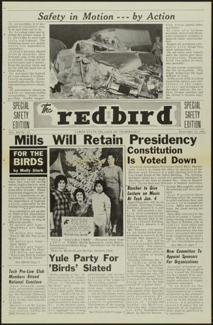 Primary view of object titled 'The Redbird (Beaumont, Tex.), Vol. 12, No. 12, Ed. 1 Friday, December 15, 1961'.