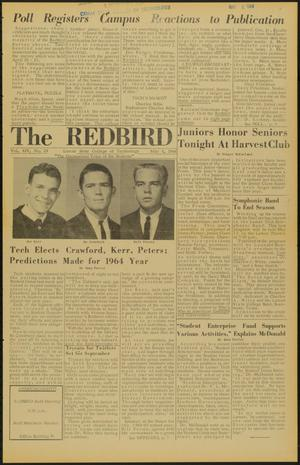 Primary view of object titled 'The Redbird (Beaumont, Tex.), Vol. 14, No. 23, Ed. 1 Friday, May 8, 1964'.