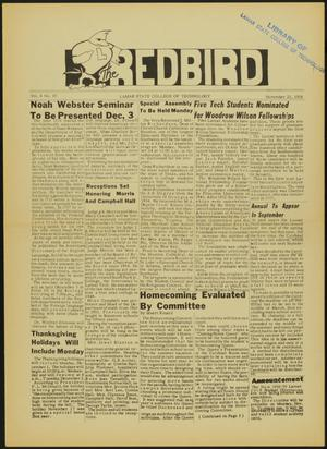 Primary view of object titled 'The Redbird (Beaumont, Tex.), Vol. 8, No. 10, Ed. 1 Friday, November 21, 1958'.