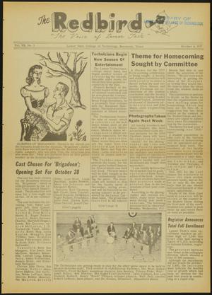 Primary view of object titled 'The Redbird (Beaumont, Tex.), Vol. 7, No. 3, Ed. 1 Friday, October 4, 1957'.