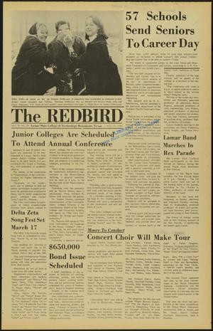 Primary view of object titled 'The Redbird (Beaumont, Tex.), Vol. 18, No. 20, Ed. 1 Thursday, February 29, 1968'.