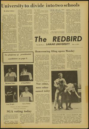 Primary view of object titled 'The Redbird (Beaumont, Tex.), Vol. 22, No. 4, Ed. 1 Friday, October 1, 1971'.