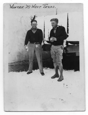 Primary view of object titled 'Harry Goode and Frank Taylor with Snowballs'.